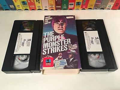 The Purple Monster Strikes Sci Fi Action VHS 1945 2-Tape Republic Serial 40's