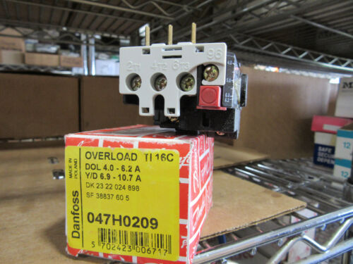 Danfoss 047H0209 Overload Relay TI16C Range 4.0 to 6.2A NEW!!! in Factory Box