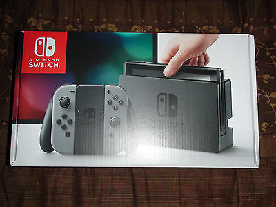 Brand New Nintendo Switch - 32GB Gray Console with Gray Joy-Con (Ready to Ship)