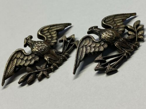 1890's, SPANISH AMERICAN WAR, COLONEL INSIGNIA, WAR BIRDS, SILVER
