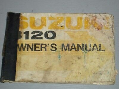 SUZUKI B120 OWNERS MANUAL