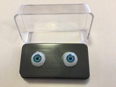 8mm Blue Grey Glastic Realistic Acrylic Doll Eyes