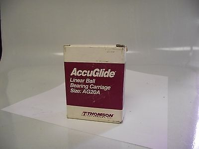 Thomson Accuglide Cg20aabn Ball Retained Linear Bearing Block 3 X 2-12 X 1