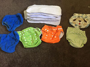 MODERN CLOTH NAPPIES + 13 organic cotton liners Southport Gold Coast City Preview