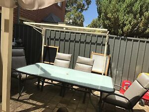 8 seater outdoor table and chairs Glenside Burnside Area Preview