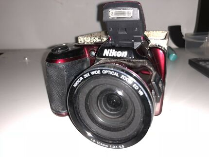 Red Nikon camera