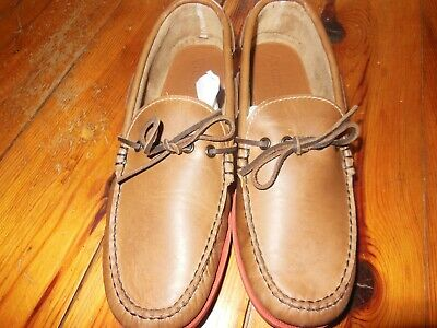 - Quoddy Hand Made Men's Brown Canoe Shoe, Vibram Soles, size 11 D.M. N.W.Bag.
