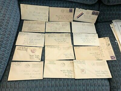 16 U.S. Military Covers (no letters) - - 2 more similar covers added