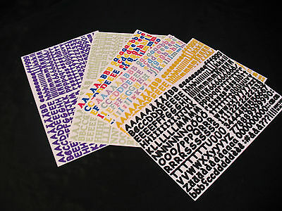 - ABC/123 Stickers, Mini; Various Colors New/CREATIVE MEMORIES