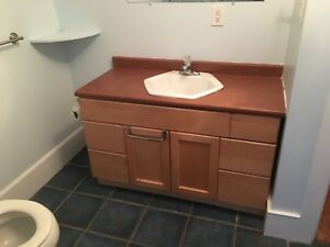 "48"" Bathroom Vanity with faucet"