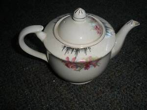 tea pot - orchids with gold trim - very old Sandgate Brisbane North East Preview
