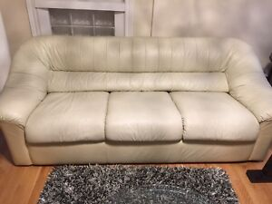 Genuine Italian leather sleek sofa