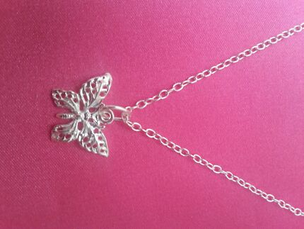 Pure Sterling silver chain and charm Yanchep Wanneroo Area Preview
