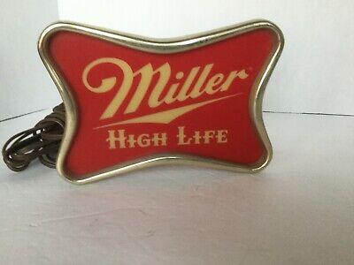 "Vintage Miller High Life Light Up Advertising Back bar Sign approx 8"" across"