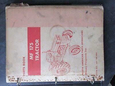 Massey Ferguson 175 Tractor Parts Book