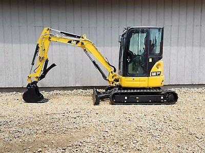 Thumb 2013 Caterpillar 303.5e Cr Mini Track Excavator Cab Heat Air Aux Hyd Cat