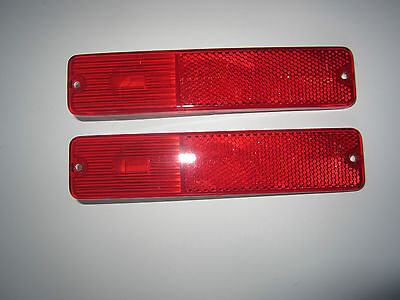 Jeep Side Marker (2 Jeep Rear Side Marker Light CJ5 CJ7 1972-1980 2 Red Lights  )
