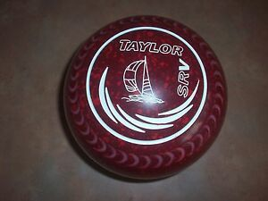 Taylor REDLINE SR Lawn Bowls Size 3H WB24 Gripped Red Speckle Surfers Paradise Gold Coast City Preview
