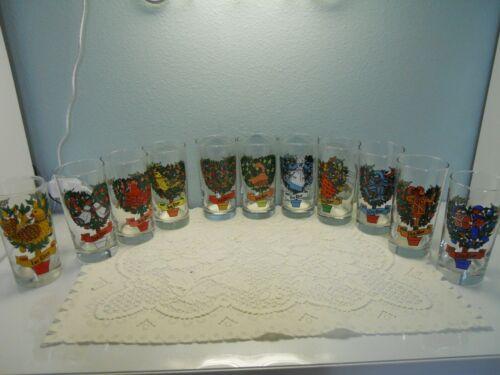 Twelve Days Of Christmas 1st - 12th YOU PICK #2350 Indiana Glass Tumbler 12 oz.