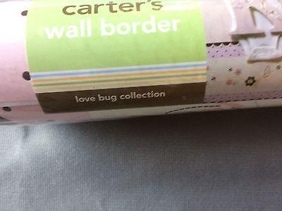 "Carter's Decorative Wall Border Self Stick Love Bug Collection 30' x 8"""