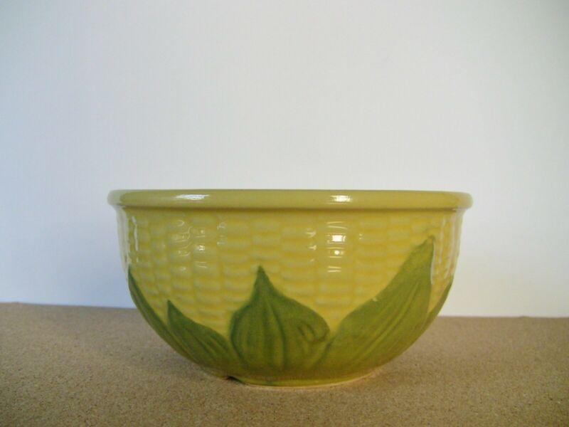Vintage Shawnee USA Pottery Corn King Bowl Rustic Farm House