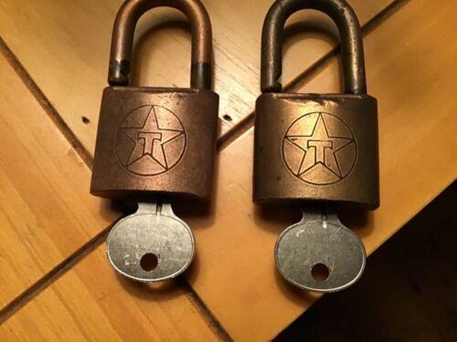 2 Vintage  Texaco (Hercules 700) Padlocks with Working Keys