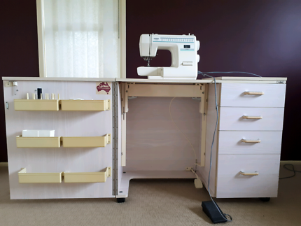 SOLD   Sewing Machine & Cabinet