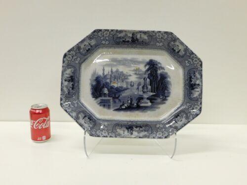 HUGE Antique Flow Mulberry Medina Furnivals Staffordshire Transferware Platter