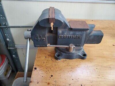 Vintage Craftsman 51865 4-12 Reversible Jaw Bench Vise Made In Usa