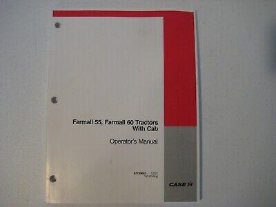 New Case Ih Farmall 55 60 Tractors With Cab Operators Manual 87739893