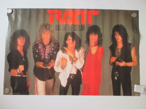 VINTAGE RATT OUT OF THE CELLAR POSTER 1984 ORIGINAL NOT REPRO 22X34 NOS
