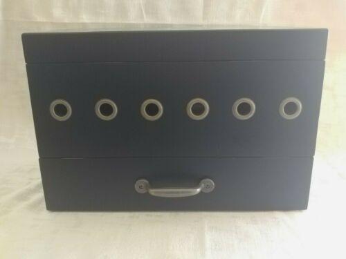 Ballard Designs Black Box Ribbon Dispenser Storage with Drawer/Craft Storage