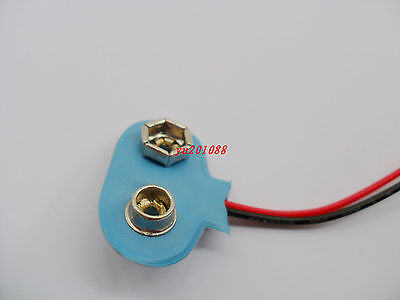 10pcs 9V 9 Volt Battery Clip Buckle Connector Soft Shell T Type