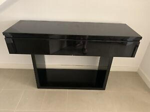 SOLD PENDING PICK UP - Black High Gloss Buffet with Drawers