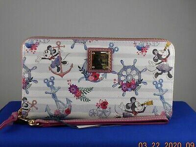 Disney Cruise Line Dooney Bourke White SAILOR MINNIE Zip Large Wallet Wristlet 2