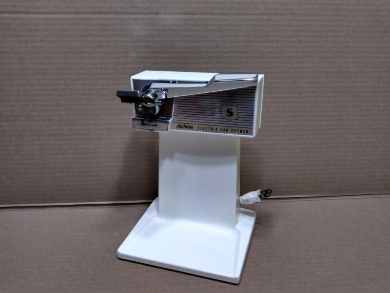 Vintage Original 1950s White  Sunbeam Electric Can Opener Model 64 - S1