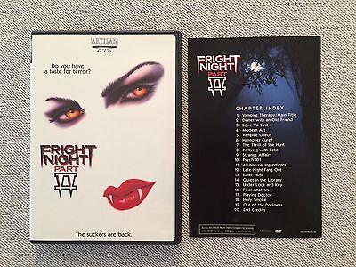 Fright Night Part 2 DVD Rare Horror Artisan Vampire Cult II 1988 Halloween Vamp ()