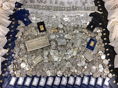 Deluxe Gold   Silver Investment Lot Estate Sale Hoard Coin Mixed Bar Lot
