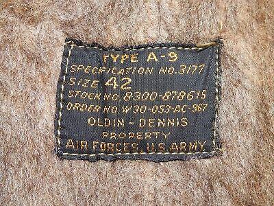 US Army AAF WW2 PILOT A-9 FLIGHT PANTS Vtg Trousers For Wear W/ B-10 Jacket RARE