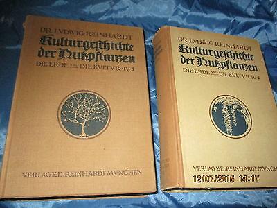 Antik Buch 1911 : Kulturgeschichte der Nutzpflanzen , Band 1 + 2 , ges. 1496 S.