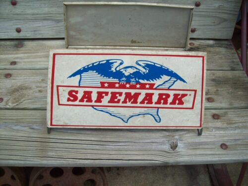 Vintage Safemark Tire Display Rack Stand  Sign Nice Original