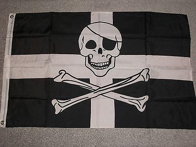 CORNISH PIRATE, ST.PIRANS FLAG, 8 X 5, BNIP