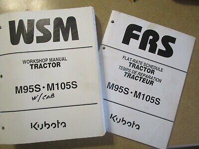 Kubota M95 S M105 S W Cab M 95 105 Tractor W Cab Service Repair Manual