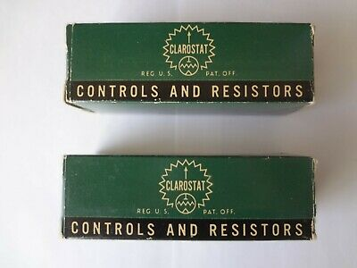 Lot Of Two Clarostat Potentiometers 53c1-50.