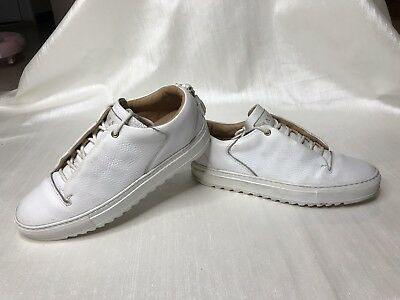 WOMENS MASON GARMENTS LUXURY PREMIUM LEATHER LOW WHITE SNEAKERS 39 9 ITALY MADE
