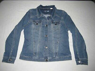 Riders By Lee Women's Blue Button Up Denim Jean Western Jacket Size Xl