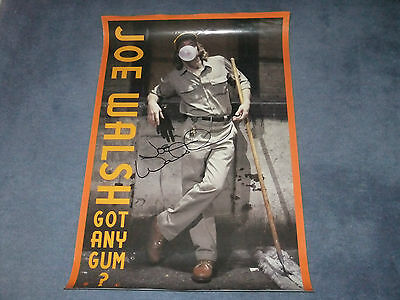 JOE WALSH THE EAGLES SIGNED  POSTER