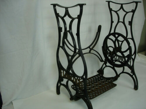 Vintage CAST IRON Treadle Base Legs Side Table Eldredge Sewing Machine Antique