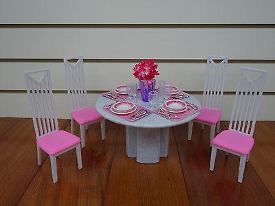 Gloria,Barbie Doll House Furniture/(94011) Dining Room Play Set