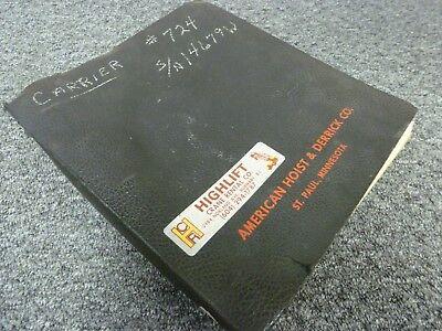American 5530 Truck Mounted Lattice Boom Crane Shop Service Repair Manual